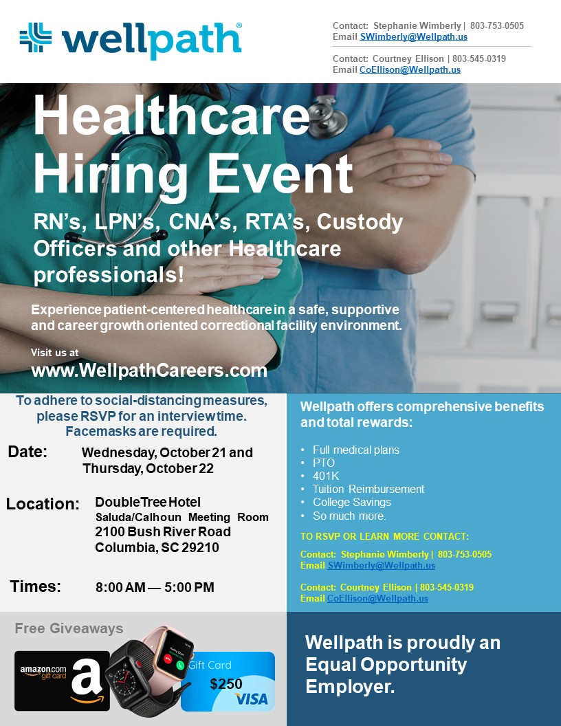 CRCC Hiring Event Flyer