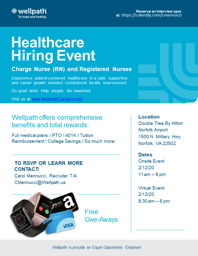 Wellpath-Healthcare_Hiring_Event-Flyer Hampton Roads